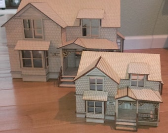 "Crockett Victorian Dollhouse Kit 1/4"" Scale"