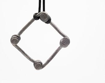 Square iron nail pendant
