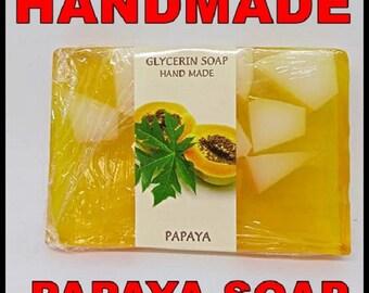 Glicerin Soap Hend Made, 75g, PAPAYA, Bulgarian Rose