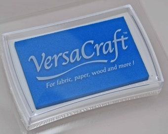 VersaCraft Craft Ink Stamp Pad -- Cerulean Blue -- Rich Color Quality Ink