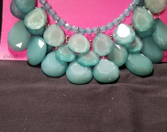 New teal  necklace