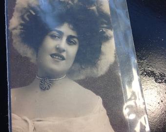 Vintage Postcard of A Lovely Dame