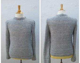 Heather grey men's wool sweater, men's sweater, wool sweater, cotton sweater, summer sweater, grey men's sweater, heather grey, grey sweater