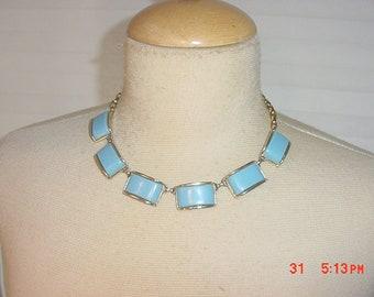 Vintage Blue Thermoset Adjustable Necklace  18 - 810