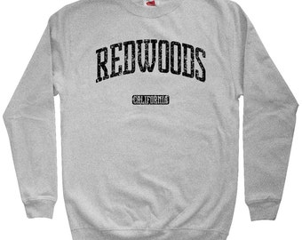Redwoods California Sweatshirt - Men S M L XL 2x 3x - Crewneck, Gift For Men, Her, Redwoods Sweatshirt, National Park, Pacific Coast