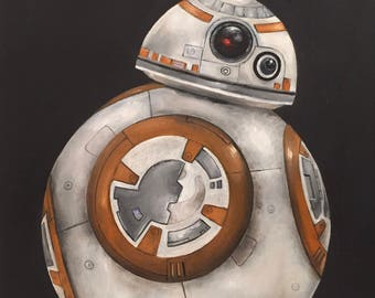 Star wars BB8 oil painting