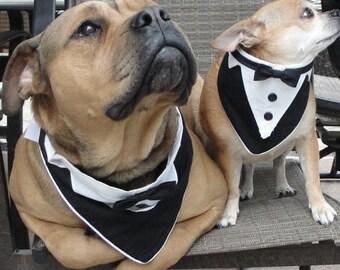 "Sewing Pattern Large Dog Pet Formal Wear Fits Neck Size 12"" - 14"" Tuxedo Bandana Wedding Pattern   PDF digital files pattern and tutorials"
