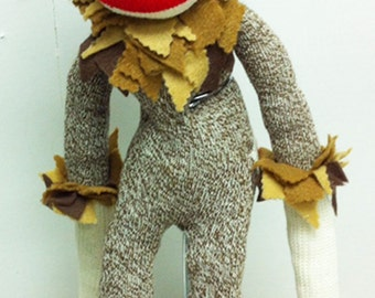 Sock Monkey in Wizard of Oz Cowardly Lion Costume