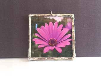 """Pink Daisy Flower Necklace, 2"""" Pendant; Simple Elegance; Gift Wrapping Available"""