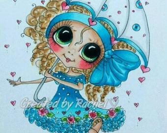 INSTANT DOWNLOAD Digital Digi Stamps Big Eye Big Head Dolls Digi  My Besties Img954 Bloomin Besties TM By Sherri Baldy
