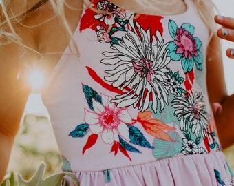 Lilac Floral Festival Dress