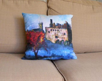 Linlithgow Palace Cushion from an original painting by Pamela Palmer