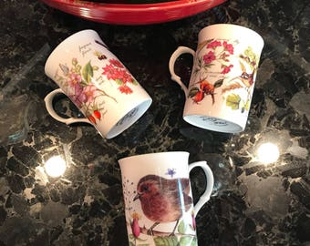 Vintage Teacup Fine Bone China Rose of England, Made in England, Coffee Cups, Three Different Designs, Item #580736419