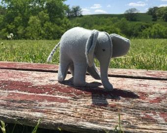 100% Wool Felt Stuffed Elephant