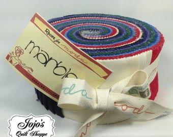 Bright Jelly Roll Basics Marble by MODA fabrics SKU 9880JR 12