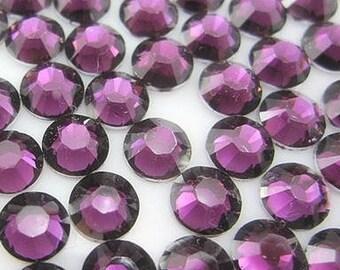 5mm 500  pieces Round Flat Back 14 facet cut Rhinestones  ----  Burgundy