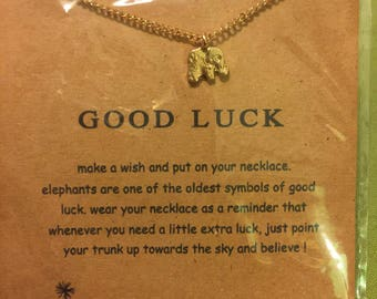Good Luck Elephant Gold Necklace