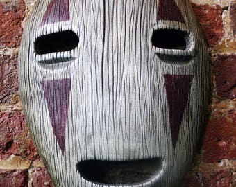 Studio Ghibli Spirited Away No-Face Mask Wall Hanger With Carved Wood Finish
