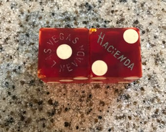 1950's Dice Vintage/ Hacienda Las Vegas Resort and Casino/ Collectible/Vintage Advertising