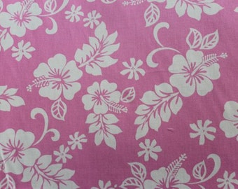 Classic Hawaiian Print in Pink  (Yardage Available)