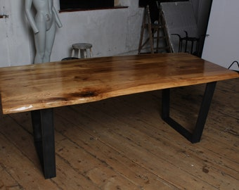 Solid wood oak dining table