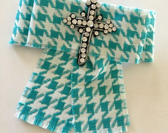 Turquoise and White - Gucci Inspired Bowtie