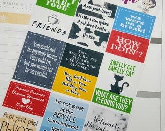 Friends quote boxes   Stickers for Erin Condren planner (#QB10)