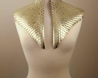 SCALENE neck corset metal scales