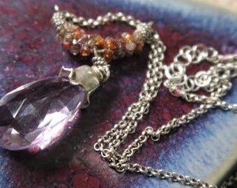 Pink Amethyst necklaces