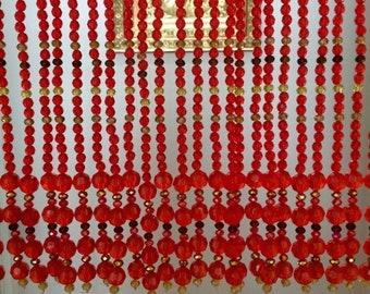 ON SALE Beaded curtain, bead curtain, hanging beads, valance, toran,  crystal curtain, room decor, room divider, interior decor, housewarmin