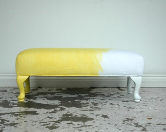 Sunshine Yellow DipDye Ottoman bench