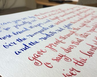 Star Spangled Calligraphy