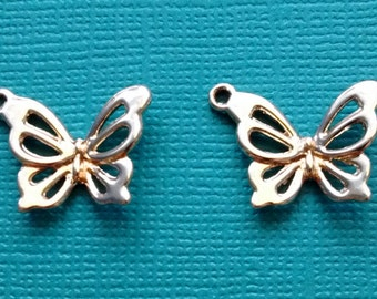 5 Butterfly Charms Rose Gold - RGC2446