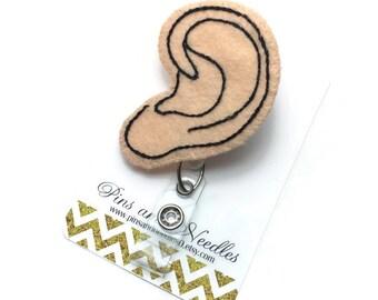 Audiologist ID Badge Reel - Retractable Badge Reel - Badge Holder - Audiology -Cute ID Badge Reel - Ear Doctor Gifts - Ear Doctor Badge Reel