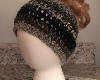 Crochet Messy Bun, Pony Tail Hat