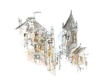 Edinburgh postcard- Stockbridge