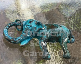 Elephant lobster clasp, (L01P), 1 3/4 x 3/4 inches, patina plated, double sides, Original design and copyrighted! New arrivals!