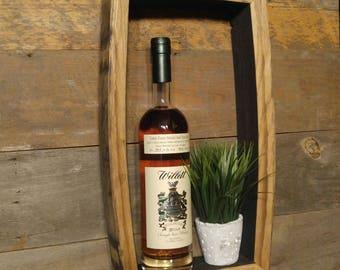 "17""x9"" - RECTANGLE - Bourbon Barrel Shadow-Box - Rustic Wall Art"