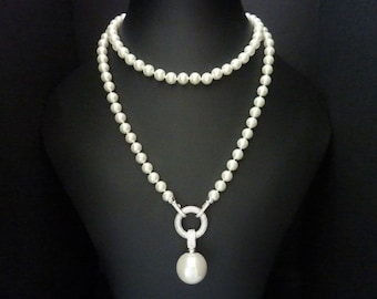 Art Deco Necklace Pearl Necklace Great Gatsby Necklace Art Nouveau Necklace Vintage Necklace Wedding Necklace Bridal Necklace Downton Abbey