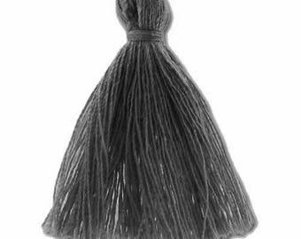 30mm dark gray cotton tassel