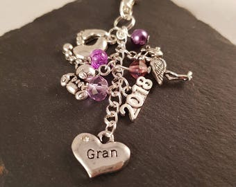Gran bag charm - new Gran gift - Gran gift - gift for Gran - Gran to be - gift for new Gran - grandparent gift - baby shower