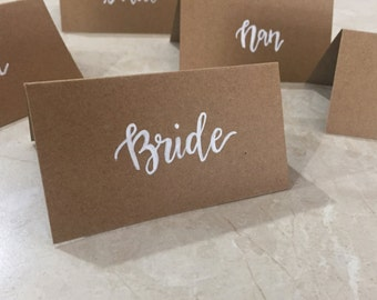 Kraft Place Cards - Hand Lettered