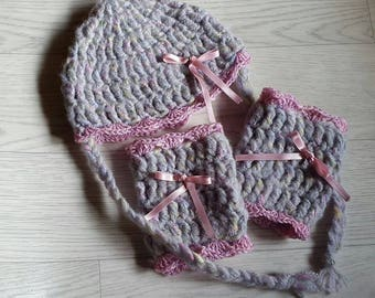 Hat and leg warmers for baby crochet