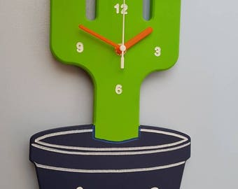 Cactus clock - Personalised & available in colours of your choice!