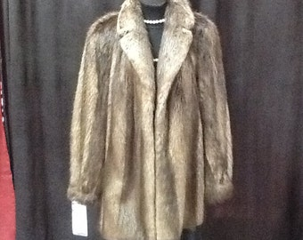 Golden blonde beaver jacket