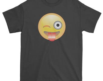 Color Emoticon - Tongue Out Smile Mens T-shirt