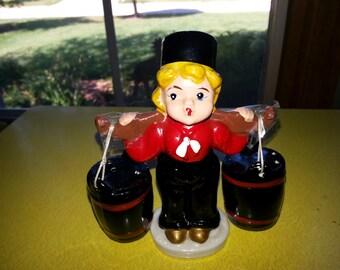 Vintage Dutch Boy Buckets Salt and Pepper Shaker