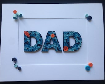 Father's Day Card, Quilling Card