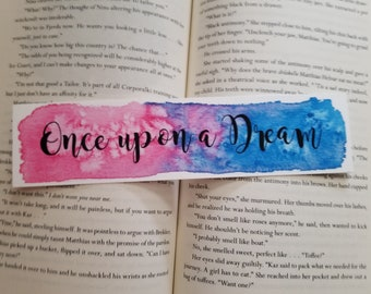 Once Upon a Dream Watercolor Bookmark, Young Adult Books