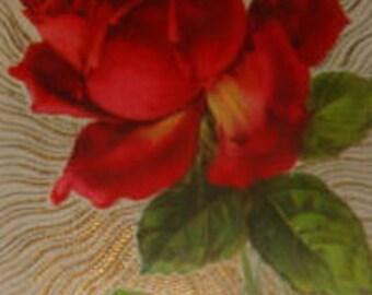 Vintage Floral/Gel Rose Postcard #3